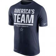 Wholesale Cheap Dallas Cowboys Nike Local Legend Verbiage Performance T-Shirt Navy Blue