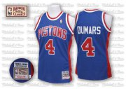 Wholesale Cheap Detroit Pistons #4 Joe Dumars Blue Swingman Throwback Jersey