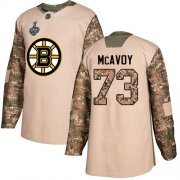 Wholesale Cheap Adidas Bruins #73 Charlie McAvoy Camo Authentic 2017 Veterans Day Stanley Cup Final Bound Stitched NHL Jersey