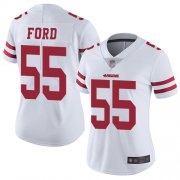 Wholesale Cheap Nike 49ers #55 Dee Ford White Women's Stitched NFL Vapor Untouchable Limited Jersey
