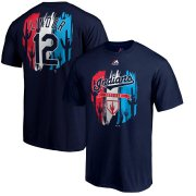 Wholesale Cheap Cleveland Indians #12 Francisco Lindor Majestic 2019 Spring Training Big & Tall Name & Number T-Shirt Navy