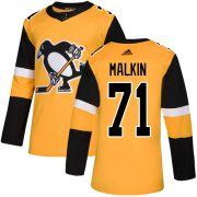 Wholesale Cheap Adidas Penguins #71 Evgeni Malkin Gold Alternate Authentic Stitched Youth NHL Jersey