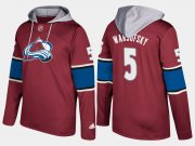 Wholesale Cheap Avalanche #5 David Warsofsky Burgundy Name And Number Hoodie