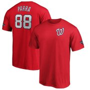 Wholesale Cheap Washington Nationals #88 Gerardo Parra Majestic 2019 World Series Champions Name & Number T-Shirt Red