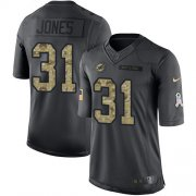 Wholesale Cheap Nike Dolphins #31 Byron Jones Black Youth Stitched NFL Limited 2016 Salute to Service Jersey