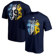 Wholesale Cheap Tampa Bay Rays #39 Kevin Kiermaier Majestic 2019 Spring Training Name & Number T-Shirt Navy