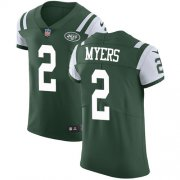Wholesale Cheap Nike Jets #2 Jason Myers Green Team Color Men's Stitched NFL Vapor Untouchable Elite Jersey
