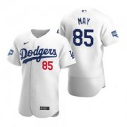 Wholesale Cheap Los Angeles Dodgers #85 Dustin May White 2020 World Series Champions Jersey