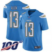 Wholesale Cheap Nike Chargers #13 Keenan Allen Electric Blue Alternate Men's Stitched NFL 100th Season Vapor Limited Jersey