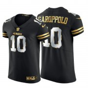 Wholesale Cheap San Francisco 49ers #10 Jimmy Garoppolo Men's Nike Black Edition Vapor Untouchable Elite NFL Jersey