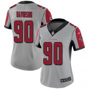 Wholesale Cheap Nike Falcons #90 Marlon Davidson Silver Women's Stitched NFL Limited Inverted Legend Jersey