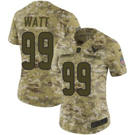 Wholesale Cheap Nike Texans #99 J.J. Watt Camo Women\'s Stitched NFL Limited 2018 Salute to Service Jersey