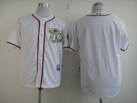Wholesale Cheap Nationals Blank White USMC Cool Base Stitched MLB Jersey