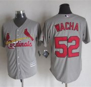 Wholesale Cheap Cardinals #52 Michael Wacha Grey New Cool Base Stitched MLB Jersey