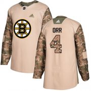 Wholesale Cheap Adidas Bruins #4 Bobby Orr Camo Authentic 2017 Veterans Day Stitched NHL Jersey