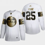Wholesale Cheap Edmonton Oilers #25 Darnell Nurse Men's Adidas White Golden Edition Limited Stitched NHL Jersey