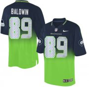 Wholesale Cheap Nike Seahawks #89 Doug Baldwin Steel Blue/Green Men's Stitched NFL Elite Fadeaway Fashion Jersey