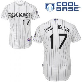 Wholesale Cheap Rockies #17 Todd Helton White Cool Base Stitched Youth MLB Jersey