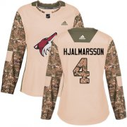 Wholesale Cheap Adidas Coyotes #4 Niklas Hjalmarsson Camo Authentic 2017 Veterans Day Women's Stitched NHL Jersey