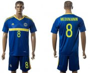 Wholesale Cheap Bosnia Herzegovina #8 Medunjanin Home Soccer Country Jersey