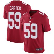 Wholesale Cheap Nike Giants #59 Lorenzo Carter Red Alternate Men's Stitched NFL Vapor Untouchable Limited Jersey
