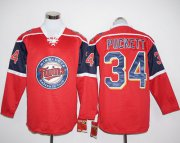 Wholesale Cheap Twins #34 Kirby Puckett Red Long Sleeve Stitched MLB Jersey