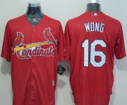 Wholesale Cheap Cardinals #16 Kolten Wong Red New Cool Base Stitched MLB Jersey