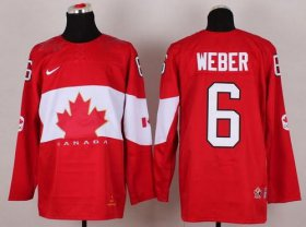 Wholesale Cheap Olympic 2014 CA. #6 Shea Weber Red Stitched NHL Jersey