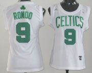 Wholesale Cheap Boston Celtics #9 Rajon Rondo White Womens Jersey