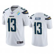 Wholesale Cheap Los Angeles Chargers #13 Keenan Allen White 60th Anniversary Vapor Limited NFL Jersey