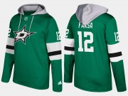 Wholesale Cheap Stars #12 Radek Faksa Green Name And Number Hoodie