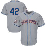 Wholesale Cheap New York Mets #42 Majestic 2019 Jackie Robinson Day Official Cool Base Jersey Gray