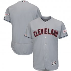 Wholesale Cheap Cleveland Indians Blank Majestic Road 2019 All-Star Game Patch Flex Base Team Jersey Gray