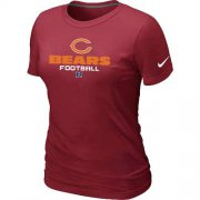 Wholesale Cheap Women's Nike Chicago Bears Critical Victory NFL T-Shirt Red