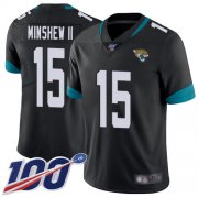 Wholesale Cheap Nike Jaguars #15 Gardner Minshew II Black Team Color Men's Stitched NFL 100th Season Vapor Limited Jersey