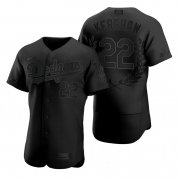Wholesale Cheap Los Angeles Dodgers #22 Clayton Kershaw Men's Nike Black MLB MVP Limited Player Edition Jersey
