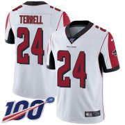 Wholesale Cheap Nike Falcons #24 A.J. Terrell White Men's Stitched NFL 100th Season Vapor Untouchable Limited Jersey