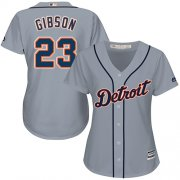 Wholesale Cheap Tigers #23 Kirk Gibson Grey Road Women's Stitched MLB Jersey