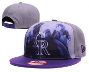 Wholesale Cheap MLB Colorado Rockies Snapback Ajustable Cap Hat 5