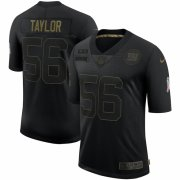 Cheap New York Giants #56 Lawrence Taylor Nike 2020 Salute To Service Retired Limited Jersey Black
