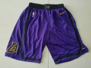 Wholesale Cheap Lakers 23 Lebron James Purple 2018-19 City Edition Nike Shorts