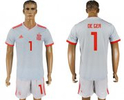 Wholesale Cheap Spain #1 De Gea Away Soccer Country Jersey