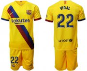 Wholesale Cheap Barcelona #22 Vidal Away Soccer Club Jersey