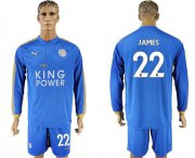 Wholesale Cheap Leicester City #22 James Home Long Sleeves Soccer Club Jersey