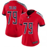 Wholesale Cheap Nike Titans #79 Isaiah Wilson Red Women's Stitched NFL Limited Inverted Legend Jersey