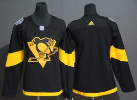 Wholesale Cheap Adidas Penguins Blank Black Authentic 2019 Stadium Series Women\'s Stitched NHL Jersey