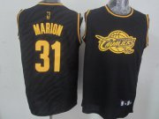 Wholesale Cheap Cleveland Cavaliers #31 Shawn Marion Revolution 30 Swingman 2014 Black With Gold Jersey