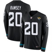 Wholesale Cheap Nike Jaguars #20 Jalen Ramsey Black Team Color Men's Stitched NFL Limited Therma Long Sleeve Jersey