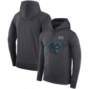 Wholesale Cheap NFL Men's Carolina Panthers Nike Anthracite Crucial Catch Performance Pullover Hoodie