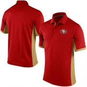 Wholesale Cheap Men's Nike NFL San Francisco 49ers Scarlet Team Issue Performance Polo